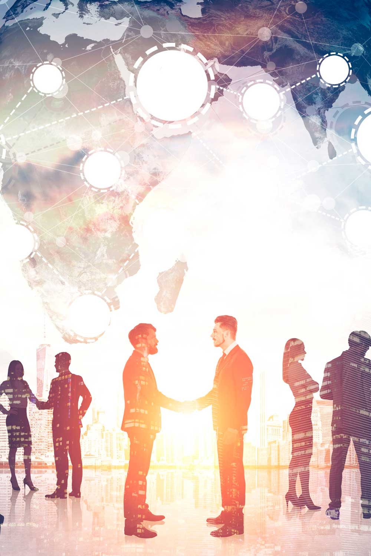 Licenciatura en Relaciones Comerciales Internacionales gente negociando