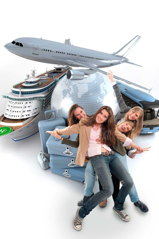 Licenciatura en Turismo jovenes viajando